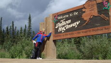 Adrian Gronek na Dalton Highway