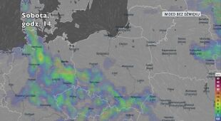 Prognozowane opady deszczu w kolejnych dniach (Ventusky.com)