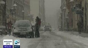 Front sprowadził opady śniegu do Polski